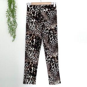 Leopard Stretch Straight Leg Pants